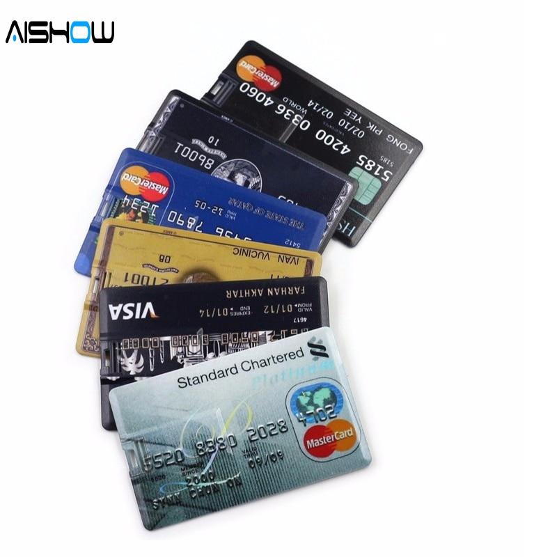 Neue Ankunft 100% Kapazität kreditkarte modell 4 GB 8 GB 16 GB 32 GB USB 2.0 Memory Stick Flash Pen Drive pendrive warenkorb o cre sticks
