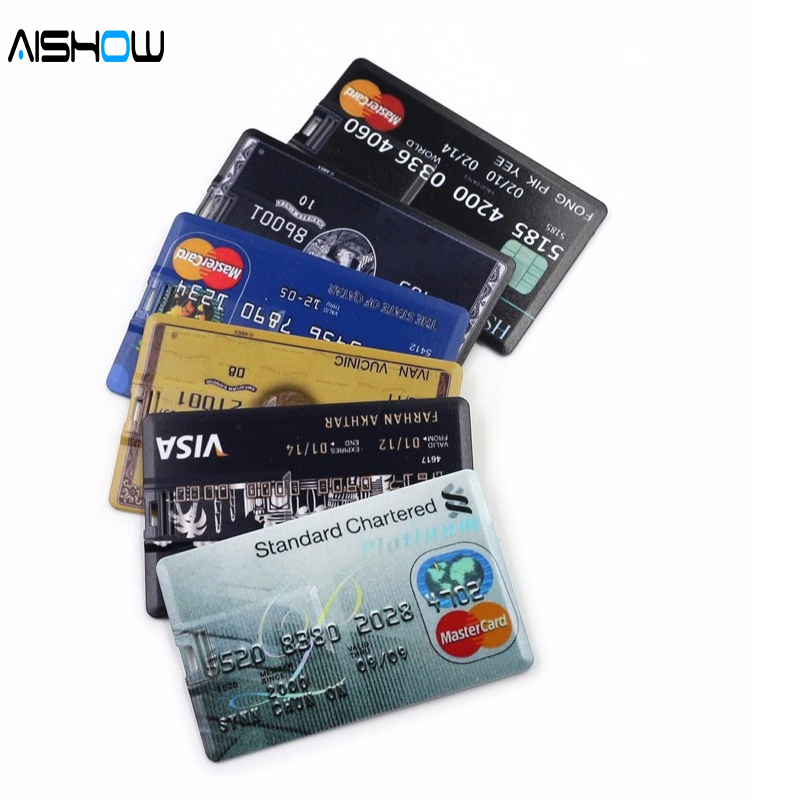 New Arrival 100 Capacity credit card model 4GB 8GB 16GB 32GB USB 2 0 Memory Stick