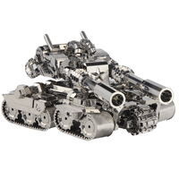 Picture Kingdom 3D Metal Nano Puzzle Apocalypse Tank Model Kits PJ 199 DIY 3D Laser Cut Assemble Jigsaw Toys