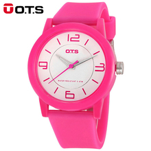 OTS Fashion Boy Girl Children's Quartz Watch Luxury Brand Candy Minimalist Analog Waterproof Kid Wrist Watch for Kids Children