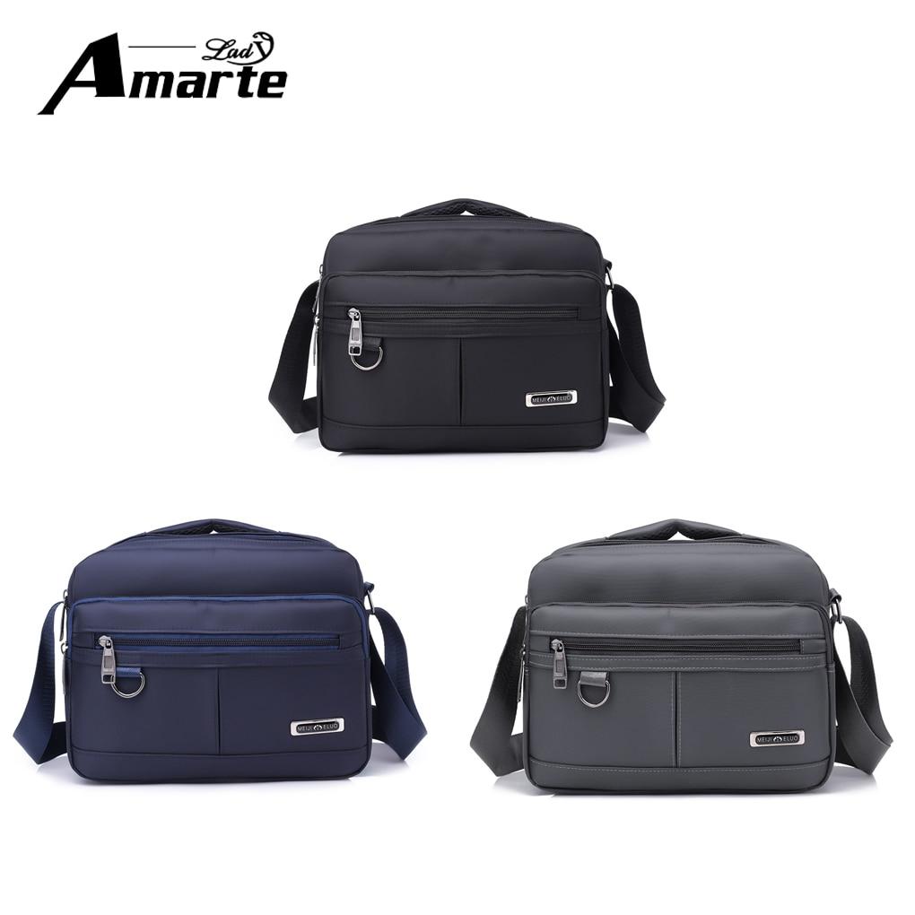 Aramte 2018 Men Bag Fashion Men Crossbody Bags Multifunctional Nylon Shoulder Bag Waterproof Male Travel Casual Messenger Bags