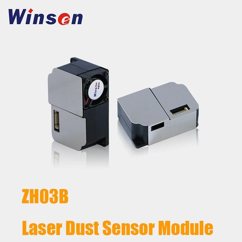 2PCS Winsen ZH03B Laser Dust Sensor Module PM2 5 Particle Air Pollution Detection UART PWM Output