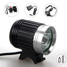 free shipping 6000Lumens 3X XM-L T6 LED Head Front Bicycle light Lamp Bike Light Headlamp Headlight