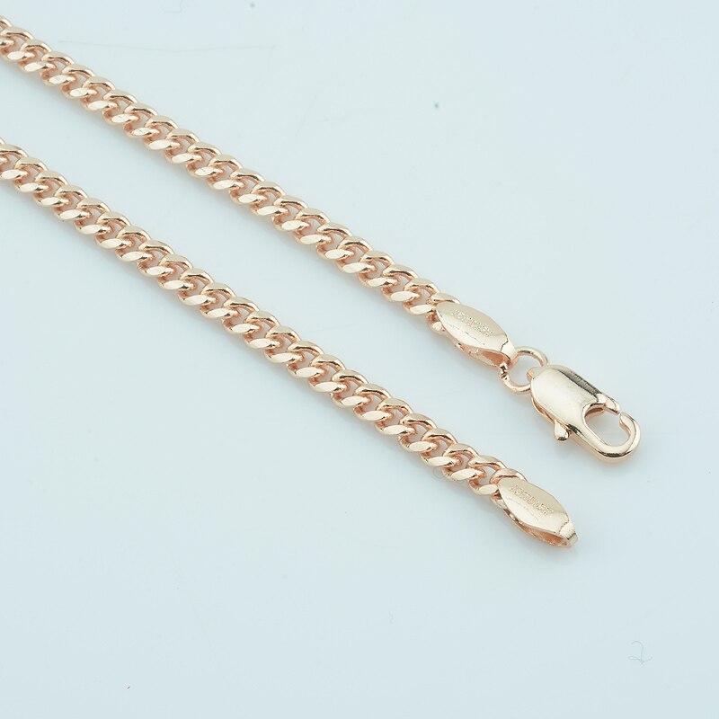 39267040abe8 ... 3mm nuevo 585 oro de la joyería de las mujeres para hombre curb collar  largo 45 cm 50 cm 55 cm 60 CM enlace Cadenas en Aliexpress.com