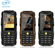 """Оригинальный vkworld камень V3 значение сотовый телефон 2.4 """"IPS 240*320 3000 мАч Мобильные аккумуляторы IP67 Водонепроницаемый 2MP Камера BT три sim gsm"""