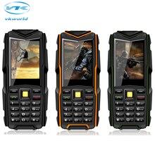 Оригинал VKworld Stone V3 Значение Сотовый Телефон 2.4 «IPS 240*320 5200 мАч Банк Питания IP67 Водонепроницаемый 2-МЕГАПИКСЕЛЬНАЯ Камера BT Dual SIM GSM