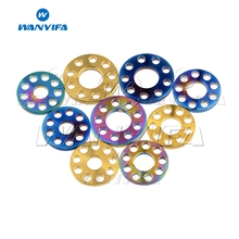 Wanyifa M6 M8 M10 Titanium Drilled Spacer Washer for Motorcycle Modification