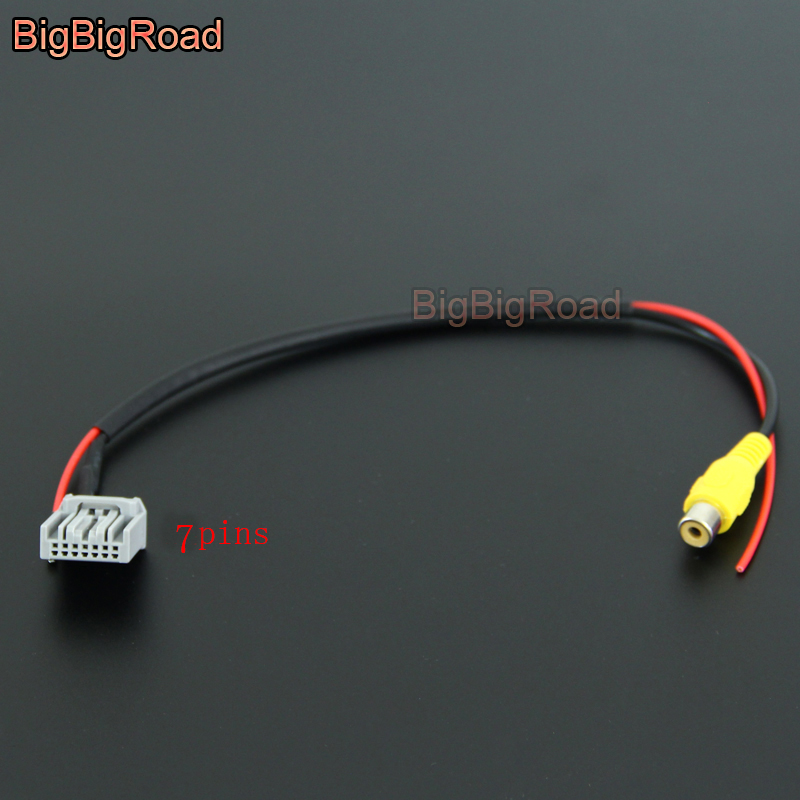 BigBigRoad For Honda CRV CR-V 2012 2013 2014 2015 Car Adapter Connector Wire Cable Rear View Camera Original Video Input RCA