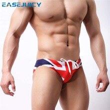 Летние Для мужчин мужские плавки купальный костюм бикини maillot de bain одежда пул Шорты плавки-шорты сексуальные низкой талией