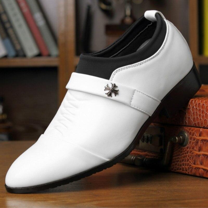 Se 2018 Couro Sapatos Homem A Black Homens Calçados B Aumentar Quatro black deslizamento Não Vestem Estações 44 Negócio white B Casuais Tamanho O De A Backcamel white Dos 38 Novas wq76B4Zqv
