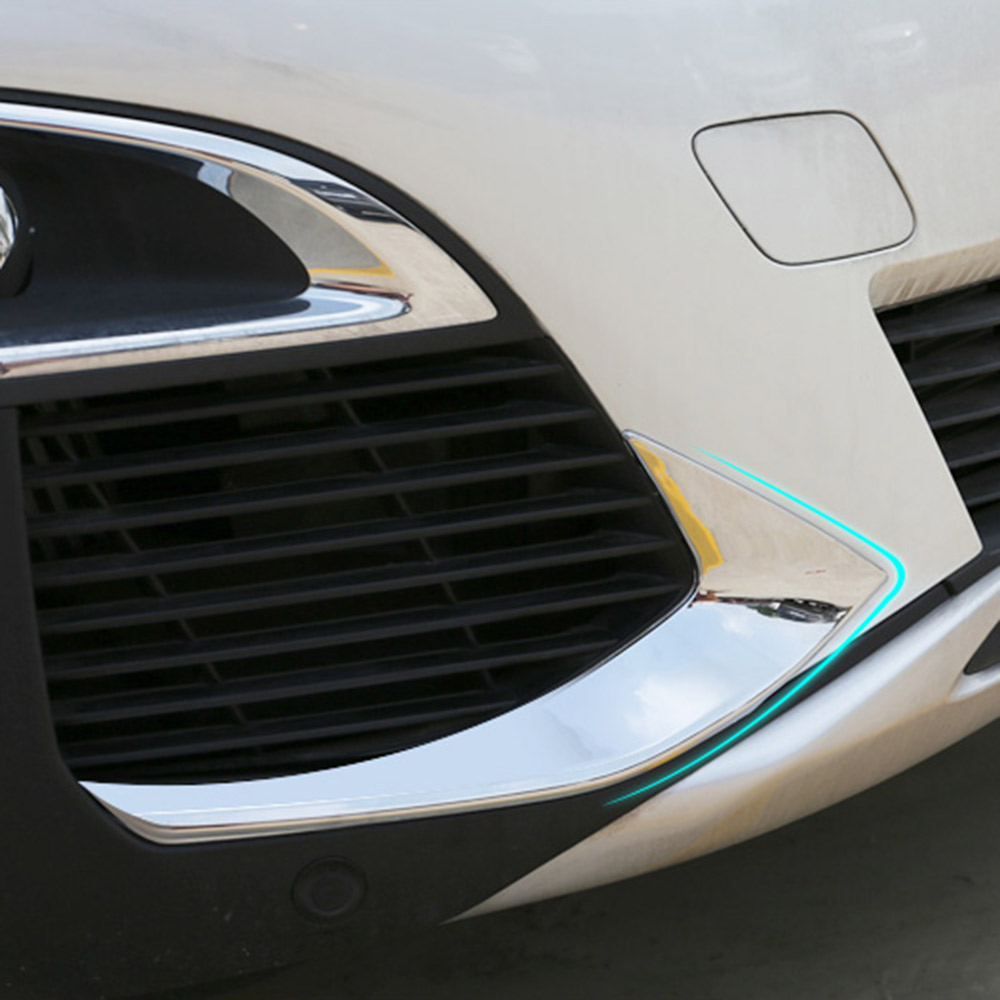 Exterior Accessories Car Front Fog Lights Decoration Fog Lamp Frame Cover Trim Abs Chrome For 2017 2018 Peugeot 3008 Accessories Meticulous Dyeing Processes
