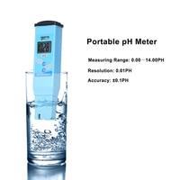 PH Meter Digital LCD Water Quality Test Meter Portable Waterproof pH Tester Water Quality Monitor Tester Detector