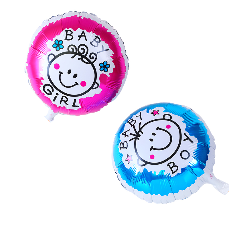 2Pcs Cartoon Baby Girl Boy Foil Balloons Inflatable Air Balls for Birthday Party Decoration Baby Shower Toys Kids Helium Balloon