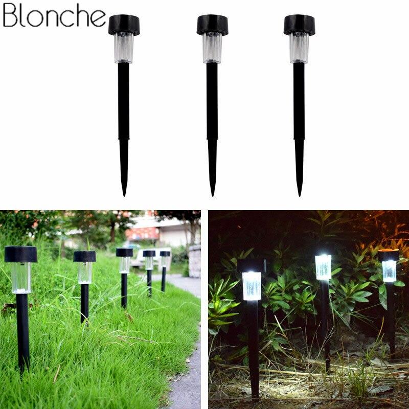 Outdoor Solar Led Garden Light For Yard Path Lawn Decorative 100% Solar Power Garden Lamp Waterproof Street Lighting Luminaire