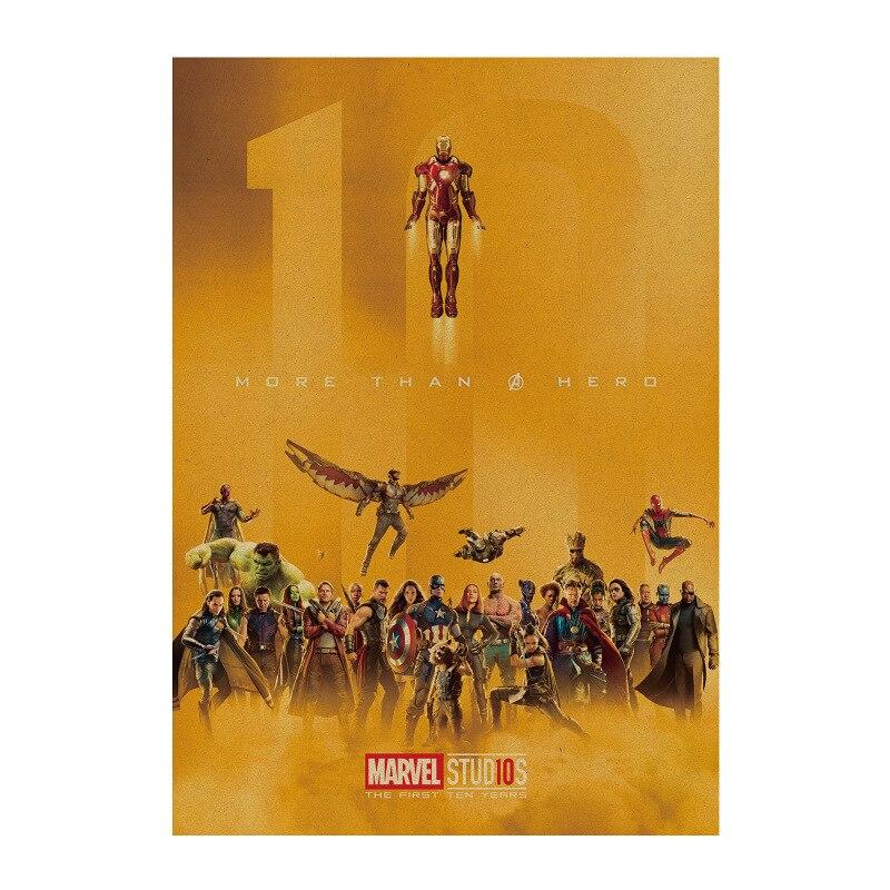 Marvel фигурки Мстители 4 эндшпиль Железный человек Капитан Америка Человек паук Винтаж крафт бумага домашний декор детские игрушки|Игровые фигурки и трансформеры|   | АлиЭкспресс