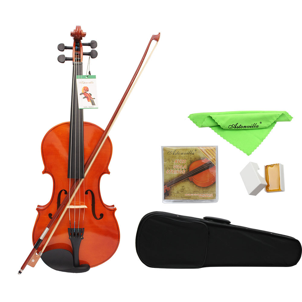 4 4 Full Size 16 Inch Natural Acoustic Violin Fiddle Violino With Case Mute Bow Strings