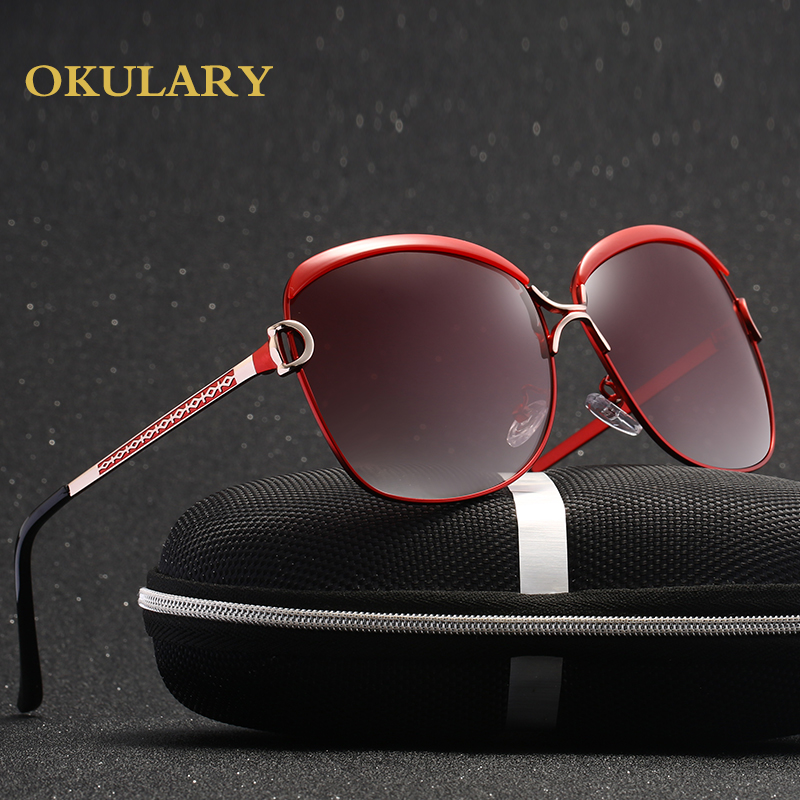 2019 Women Polarized Sunglasses 5 Colors Metal Frame UV400 Lady Glasses Come With Box