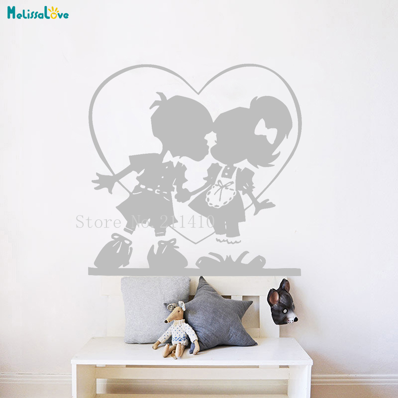 Careful Vinyl Wall Sticker Sandbox Love Your First Love Home Decoration Living Room Bedroom Removable Lovely Decals New Design Yt616 Elegant Appearance Wall Stickers