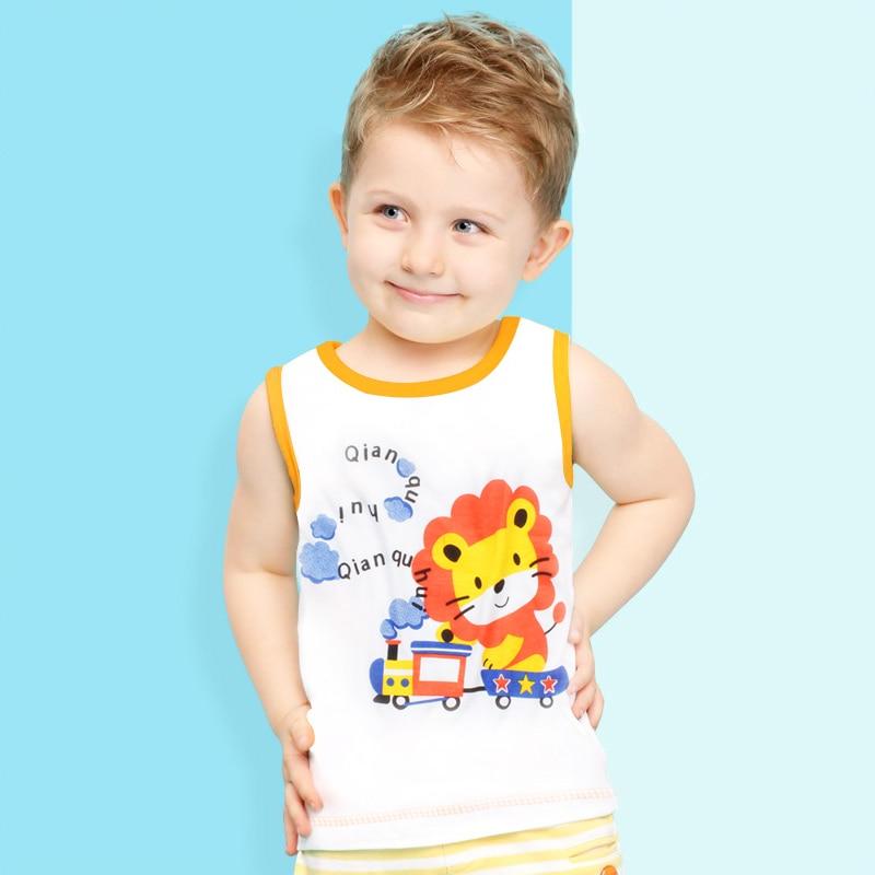 Распродажа милые животные футболки для мальчиков хлопковая детская одежда топ, футболка, Рубашка летняя детская одежда без рукавов Обувь д...