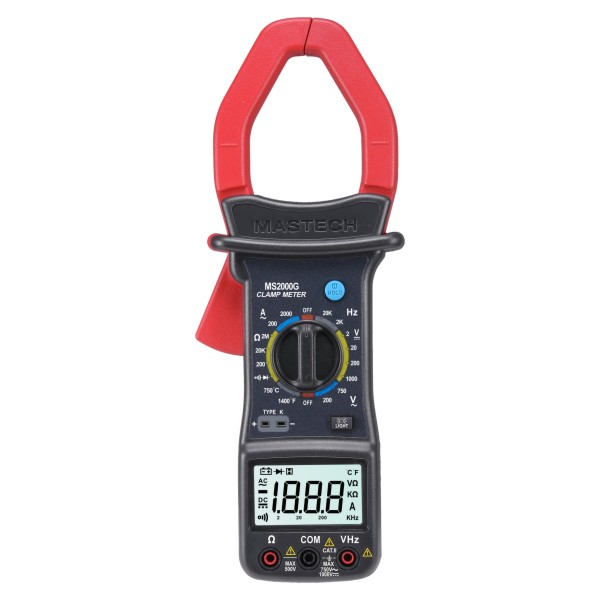 MASTECH MS2000G 2000 counts Digital Clamp Meter Current AC DC Voltage Resistance Temperature Tester  цены