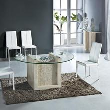 Natural Travertine Dining Table Set Luxury High Quality Natu