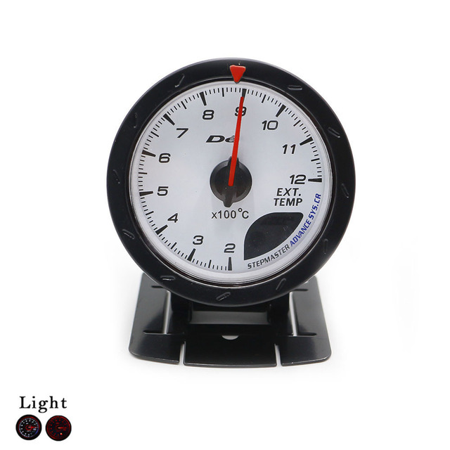 60MM D*FI CR 200C to 12000 C Exhaust Gas Temp guage White Face with Red & White Lighting EGT/Car Meter/Gauges YC100133