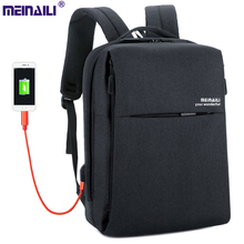 Backpacks Men boy Business Bags Multilayers pockets USB charge Travel business commuting Polyester strong School laptop bag pack