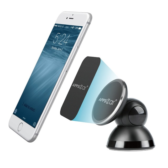 Magnetic Phone Car Mount Universal Stick On Cell Phone Holder With 3M  Adhesive For Phone Stand
