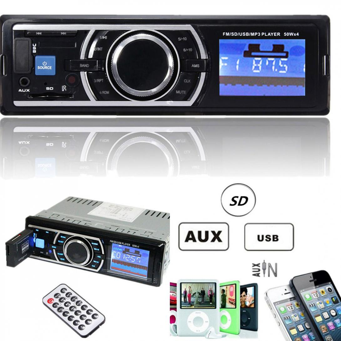 12V 1 Din Auto Car Stereo Audio In-Dash Aux Input Receiver Radio Player Support SD USB MP3 FM with Remote Control все цены