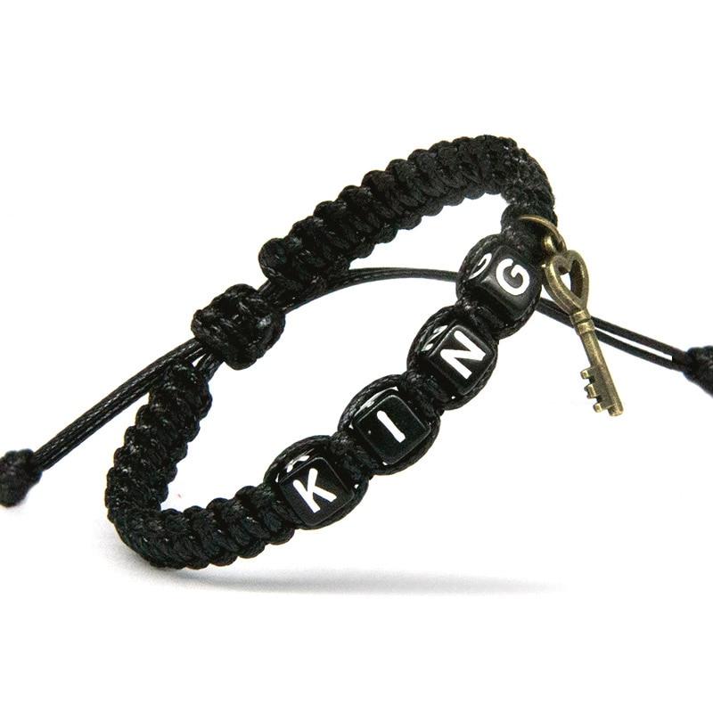 Couple Lock Charm Rope Bracelet 1