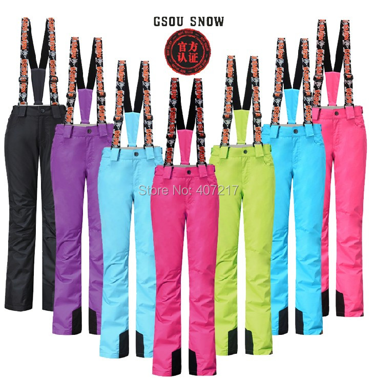 Womens ski pants female skateboarding pants autumn winter outdoor sports trousers waterproof breathable skiing trousers