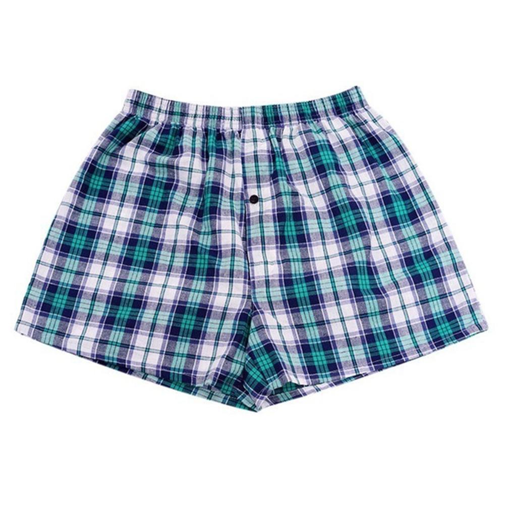 Boxers Shorts Men Underwear Beach-Pants Print Men's Casual Summer Plaid Elastic-Waist