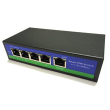 78W output 5 PORT POWER OVER ETHERNET 802.3af/at 4 port POE SWITCH supply power for CCTV IP camera