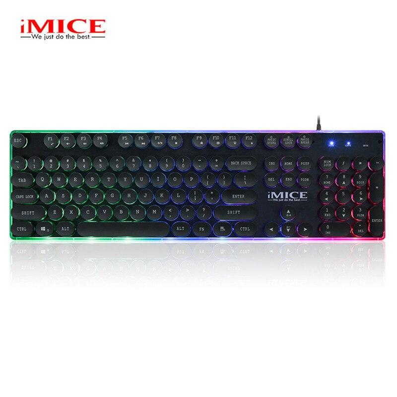 AK-700 USB Проводная клавиатура с светодиодный с подсветкой колпачки Teclado Gamer Механическая Feel клавиатура для патруля LOL PC Игры