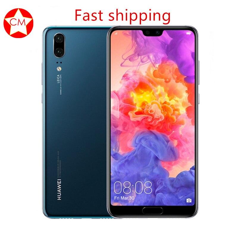 Оригинальную прошивку huawei P20 Android 8,1 Octa Core мобильный телефон huawei Kirin 970 полный Экран двойной назад AI Камера 2244*1080 NFC