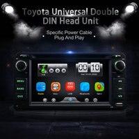 Универсальный 2Din автомобиль в тире dvd плеер gps Радио BT Автомагнитолы центры с Камера для Toyota RAV4 COROLLA EX CAMRY CELICA MR2