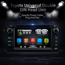 Universal 2Din Car In Dash DVD Player GPS Radio BT Head Unit Stereos with Camera For Toyota RAV4 COROLLA EX CAMRY CELICA MR2