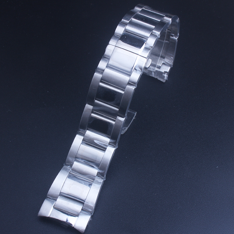 Solid 316L Stainless Steel Watchbands Silver 23mm Metal Watch Band Strap Wrist Watches Bracelet For Cartier image