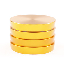 4layers Herb Weed Grinder Big Diameter 63MM Aluminum Trapezoid Tobacco Smoke Crusher Wiet for Hookah Shisha Chicha