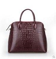 2015 схема крокодил натуральная кожа женщины мода сумки женская сумка из лаковой кожи дизайнерский бренд свободного покроя сумка