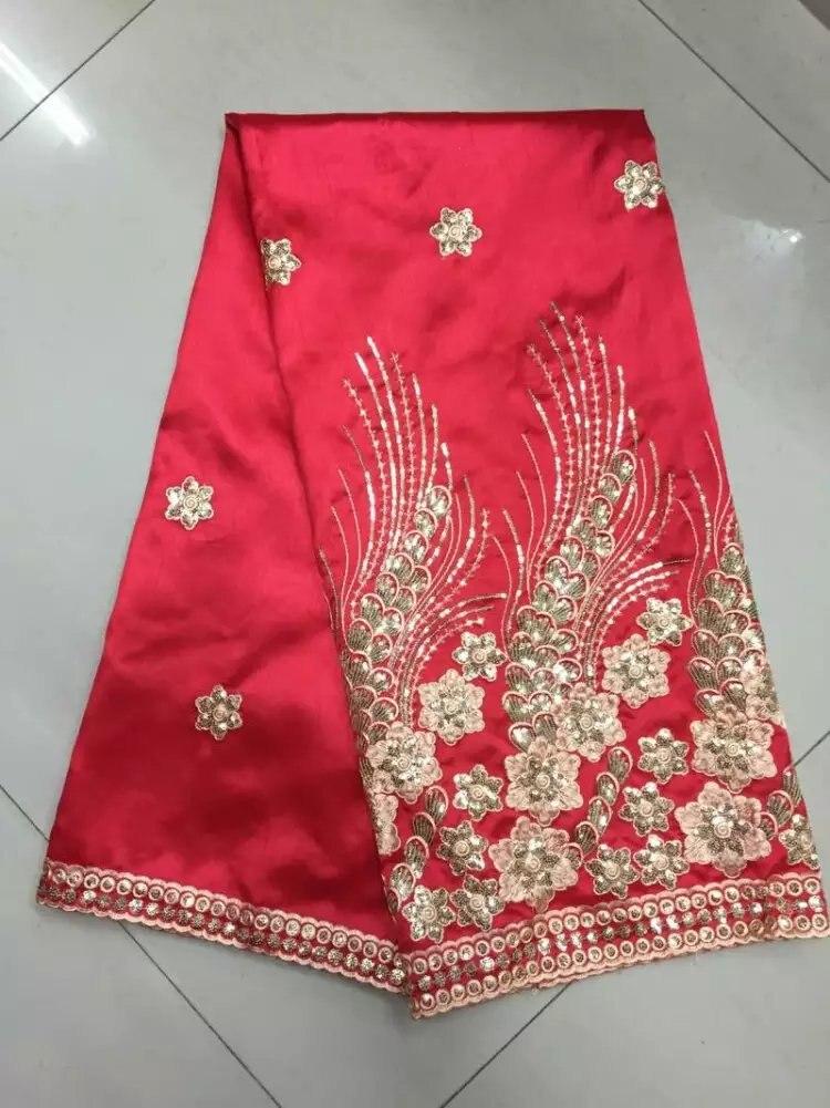 (5 ярдов/серия) Лидер продаж Блёстки материал африканская Джордж кружевной ткани для домашнего текстиля на продажу Бесплатная доставка (b8-6