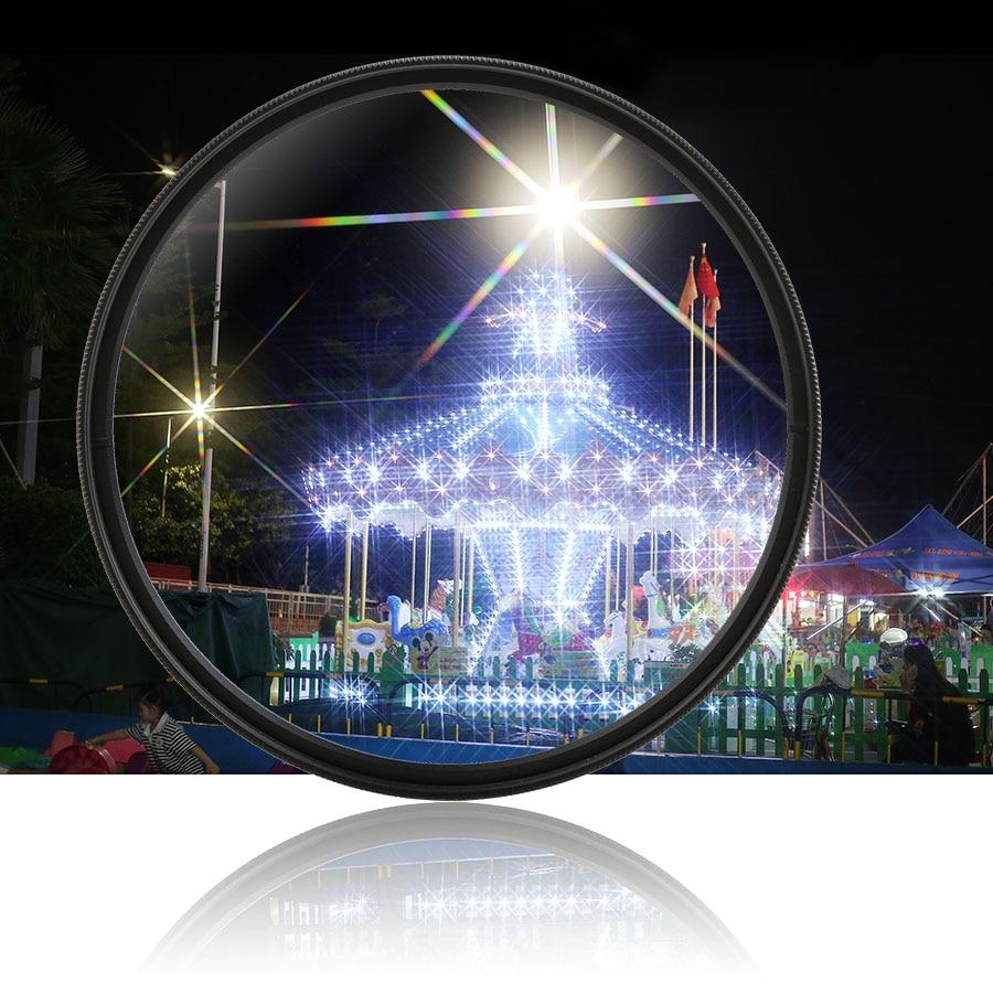 цена на Camera Lens Star Filter 4/6/8 Line Starlight Night Photography for Canon Nikon Sony Pentax Panasonic Olympus Fujifilm Tamron