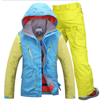 GSOU снег Новый Для мужчин Лыжный Спорт куртки лыжные Штаны зимних видов спорта на открытом воздухе Для мужчин s Сноуборд Снег набор Водонепро