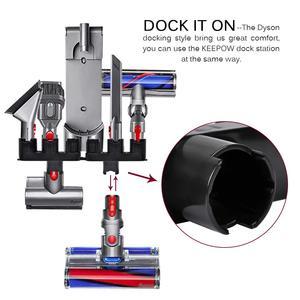 Image 4 - Compatibile con Dyson V10 holder, V8, V7 Docks Stazione Accessori Organizer Supporti di Montaggio A Parete Accessori