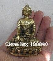 Small Bronze Dragon Tunic Buddha Statue