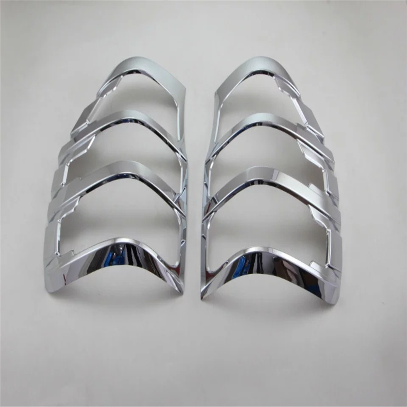 car styling For Ford Ranger 2015 2016 ABS chrome Taillight cover Taillight frame trim car accessories sticker 2pcs 2015 hyundai tucson abs electroplating taillight frame decorative trim trim car styling