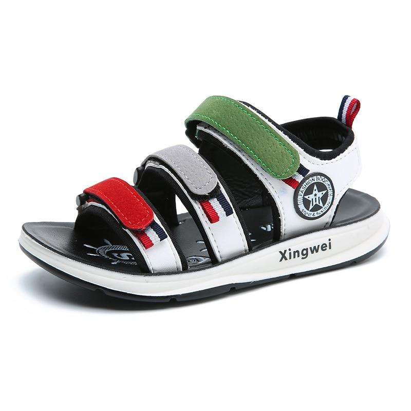 2018 Summer Baby Boy Beach Sandals Children Pu Mesh Shoes Toddler Soft Lightweight Shoes High Quality Shoes D0091