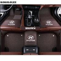 kokololee Customized car floor mat for HYUNDAI ELANTRA TUCSON Veloster i30 ix25 ix35 Sonata Equus Verna Genesis 2015 car mats