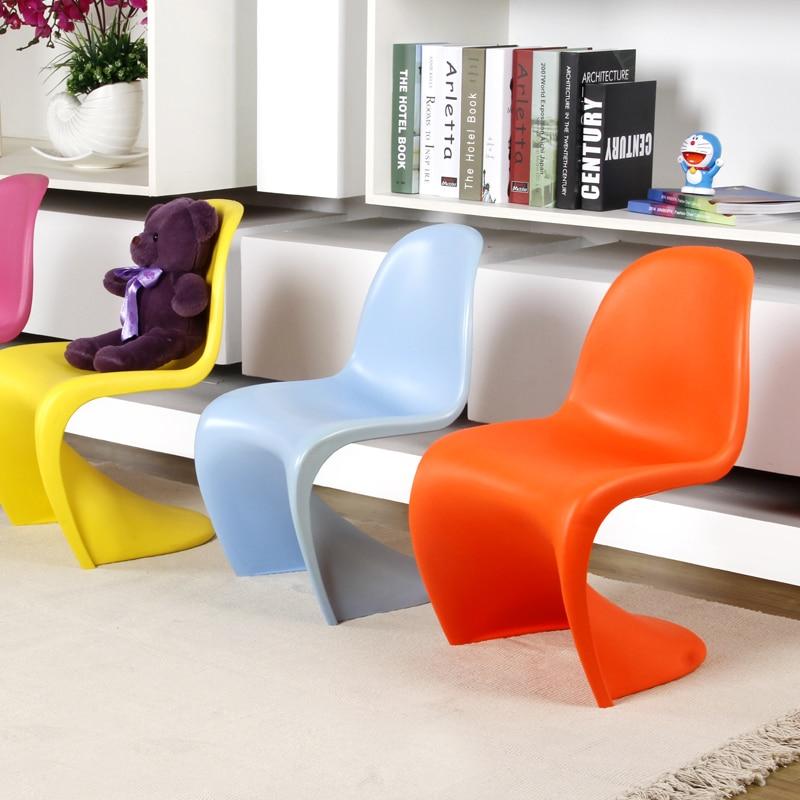 Modern Design Kids plastic S shape fashion dining chair