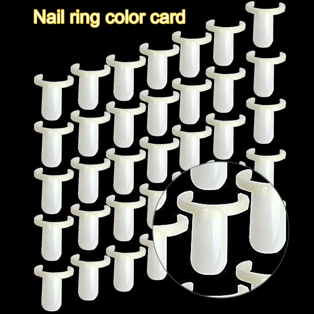 Salon 50PCS Acrylic Nail Polish UV Gel Plate Color Pops Bottle Display Nail Art Ring Style False Nail Tips Practice Tool